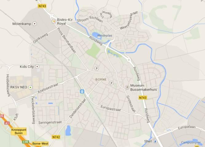 Kaart van Borne